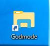 デスクトップ上に「Godmode」という名前のショートカットが作成