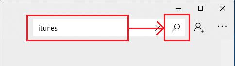 「検索」欄に「iTunes」と入力し虫眼鏡(検索ボタン)をクリック